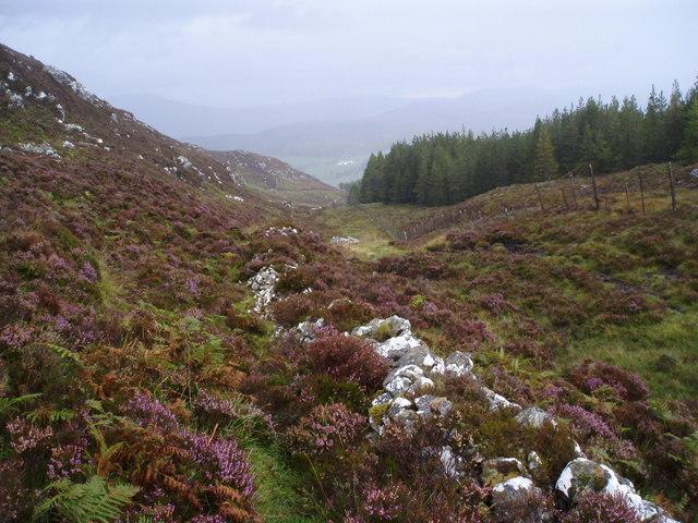 Knockie Lodge from the Loch Tarff - Knockie path