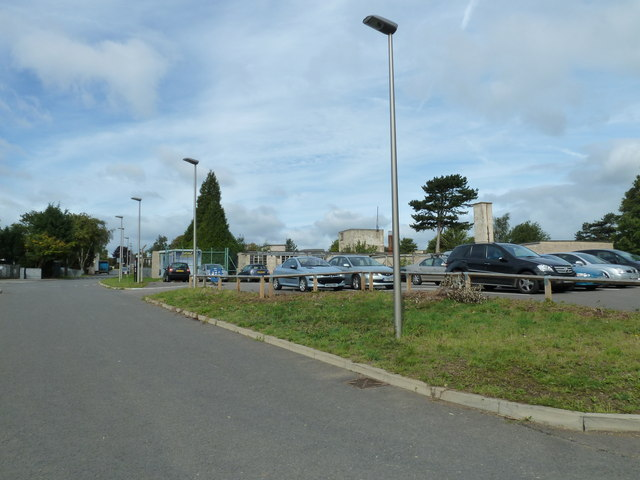 One of the car parks within Bletchley Park