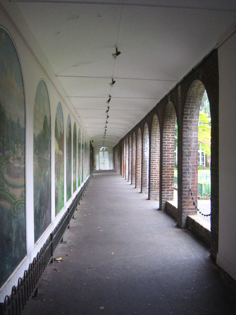 Covered walkway in Holland Park