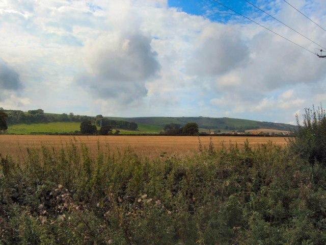 Farmland south of Potato Lane