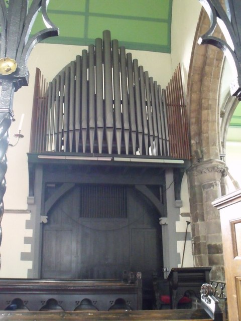 Organ in St Mary le Wigford Church, Lincoln