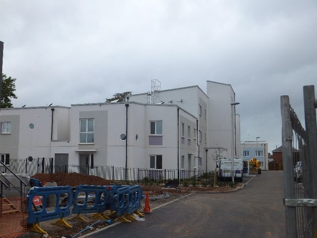 New houses and flats on the site of St Paul's church