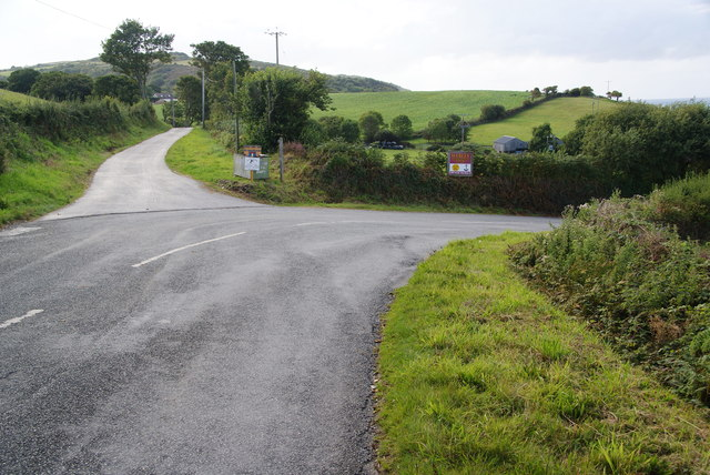 The road to Poppit Sands