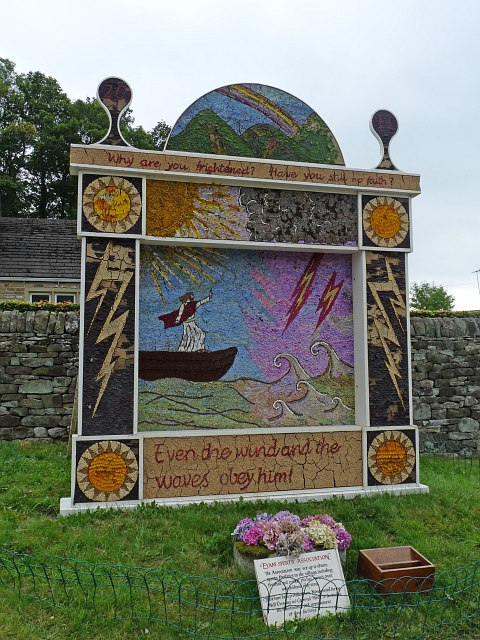 Well Dressing [2], Town End, Eyam