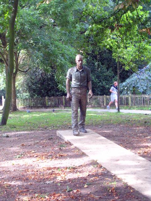 'Walking Man' sculpture in Holland Park