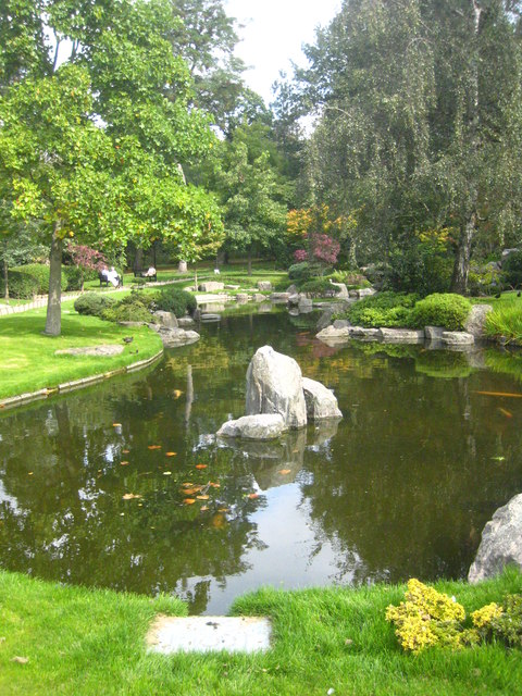 The pond in the Kyoto Garden in Holland Park