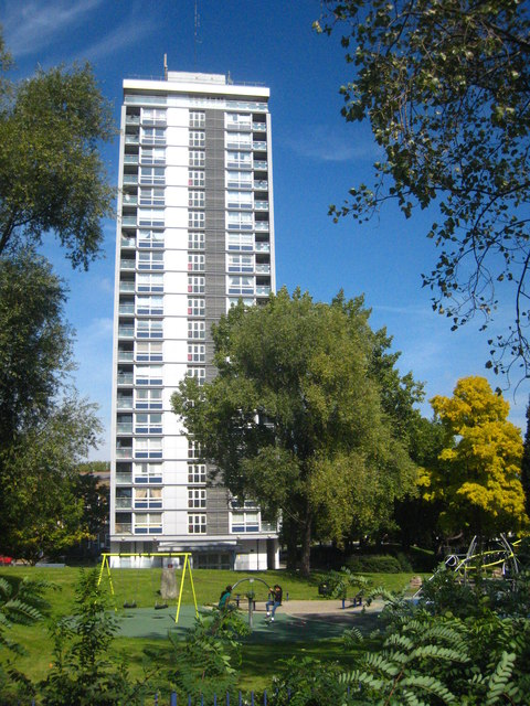 Residential towerblock at Westbourne Green