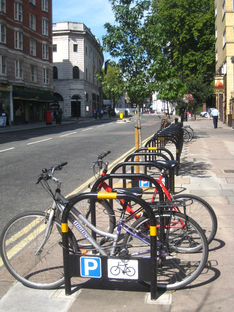 Cycle rack in Porchester Road