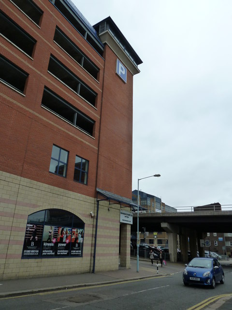 Multi storey car park just before the flyover in Chapel Street