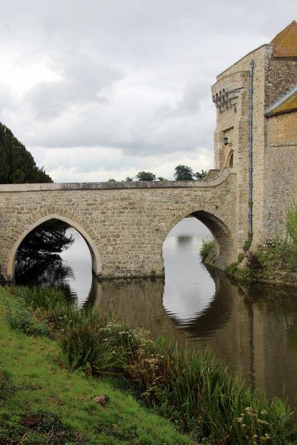Bridge over Moat, Leeds Castle, Kent
