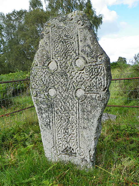 Loch Kinord Cross Slab - Front