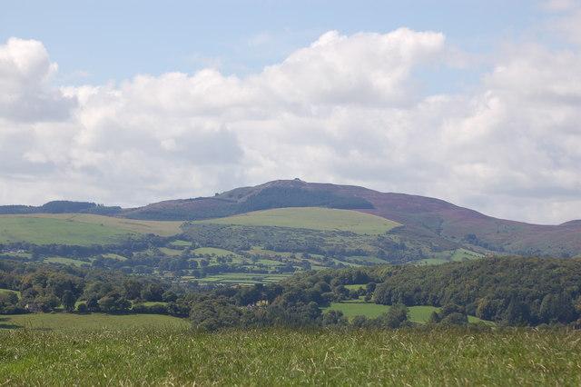 Moel Famau and Clwyd range from Rhosesmor