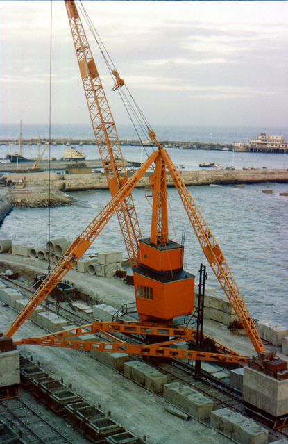 Construction of Ramsgate's new harbour circa 1979