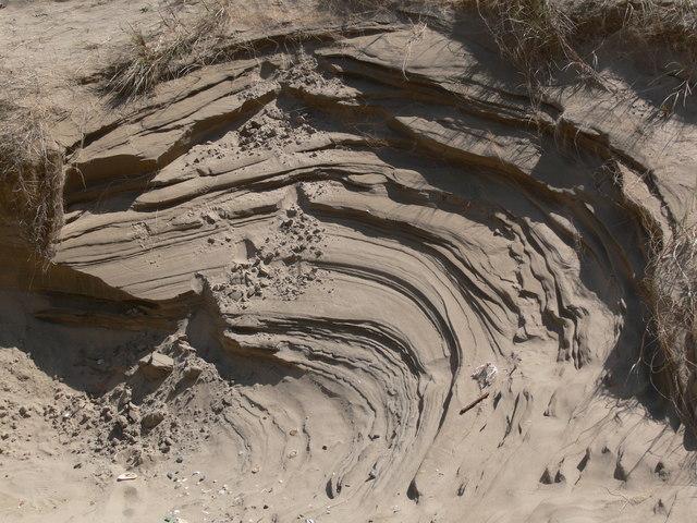 Wind sculptured sand dune