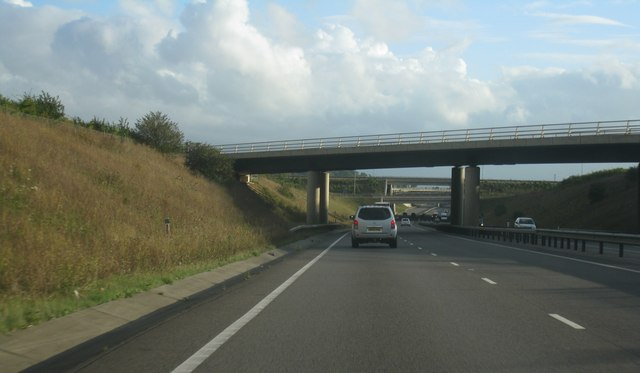 A34 passing under the M4