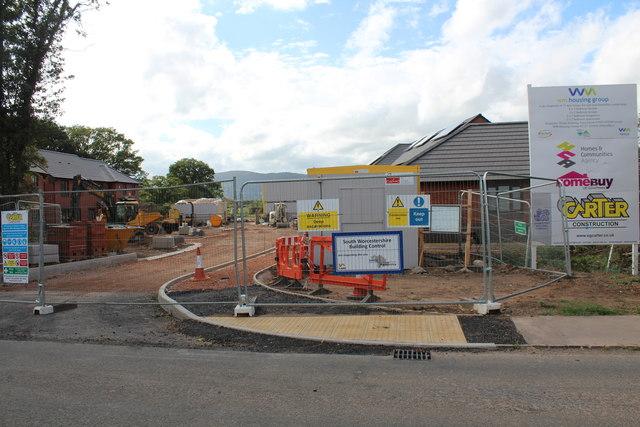 Housing development, Hanley Swan