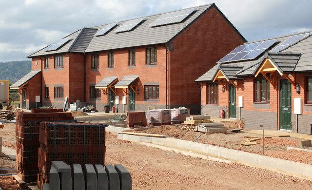Building site (right), Hanley Swan