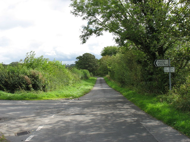 The road junction for Hutton Roof