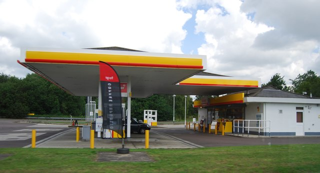 Filling station by the A11