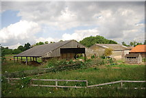 TG1607 : Farm buildings by Watton Rd by N Chadwick