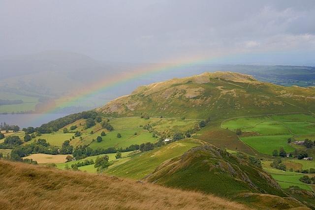 Rainbow over Hallin Fell
