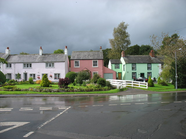 Colourful cottages in Caldbeck
