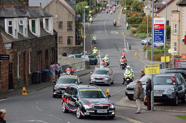 Start of the 2011 Tour of Britain, Peebles