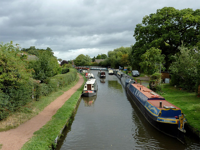Staffordshire and Worcestershire Canal at Penkridge, Staffordshire