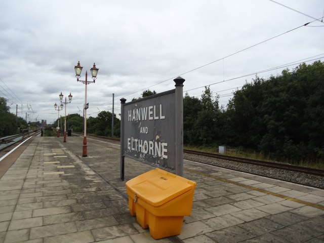 Hanwell railway station sign