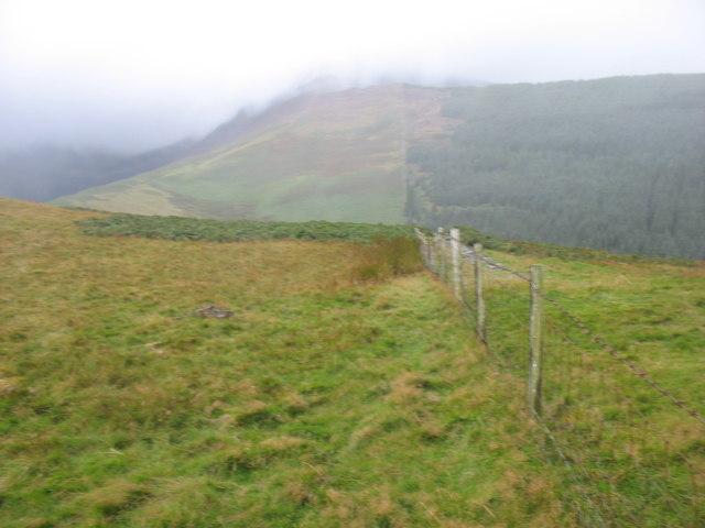 The lower slopes of Grisedale Pike from Kinn