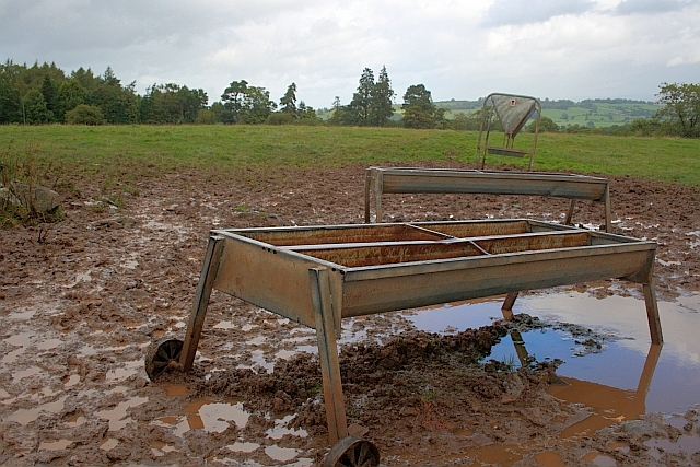 Muddy Field and Cattle Troughs