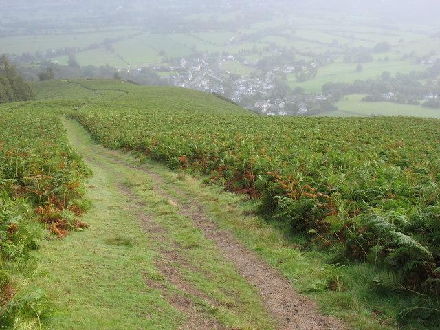 The path down from Kinn