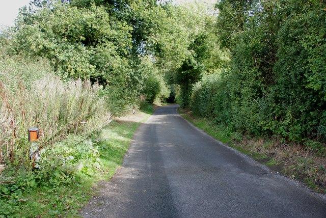 Narrow lane leading to Moseley Old Hall