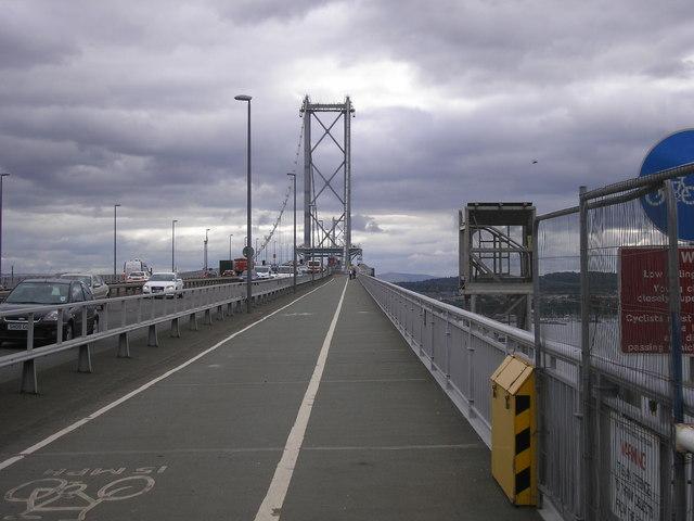 Forth Road Bridge - cycle path and walkway