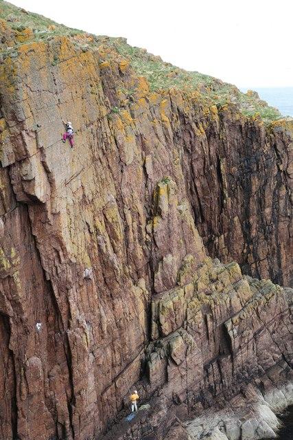 Climbing at Sarclet