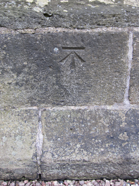 1GL bench mark and bolt on St Mary's tower