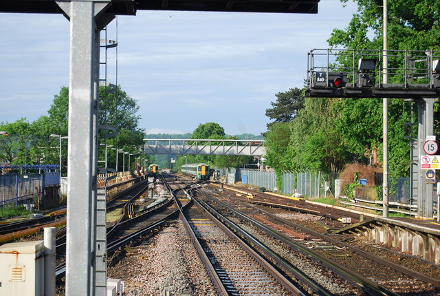 Railway line south of Horsham Station
