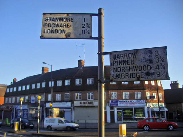Pre-Worboys signs, Clamp Hill Stanmore