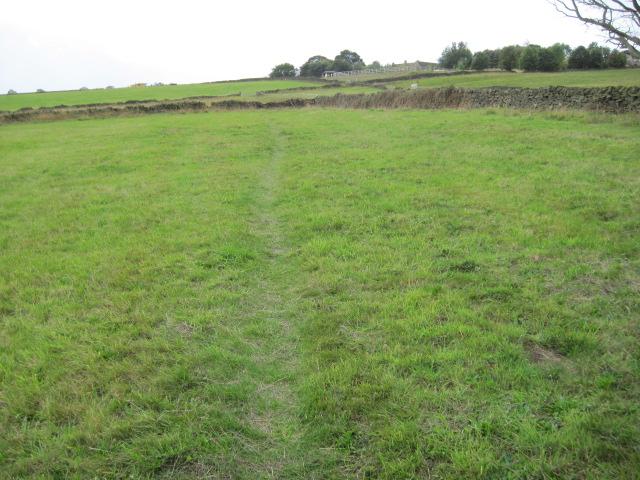 Footpath toward Wadshelf