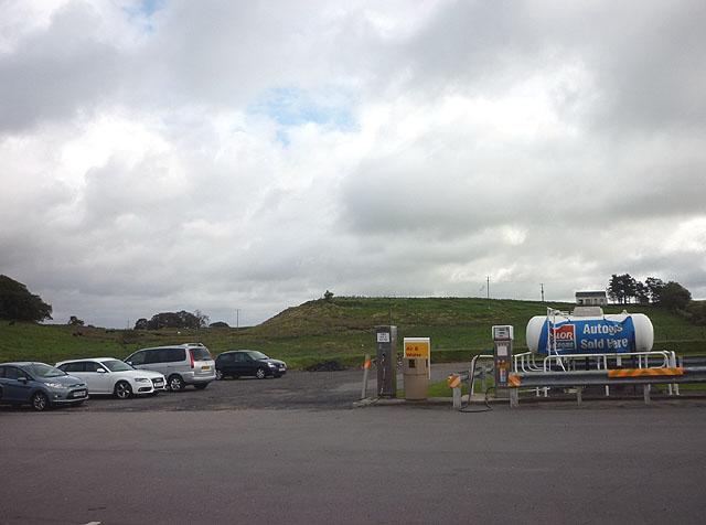 Gas tank at Low Row petrol station