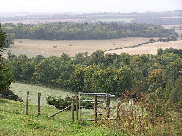 Kissing Gate and view from Farley Mount