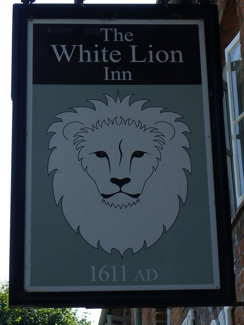 Sign for the White Lion