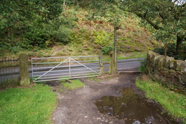 Gate at the north west corner of Yarrow Reservoir