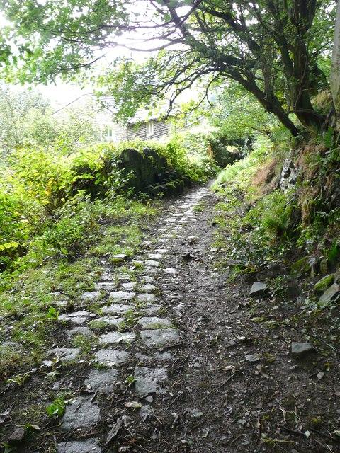 Cobbled track to Hanging Royd, Mytholmroyd