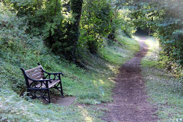 Footpath, River Medway, Allington Lock, Kent