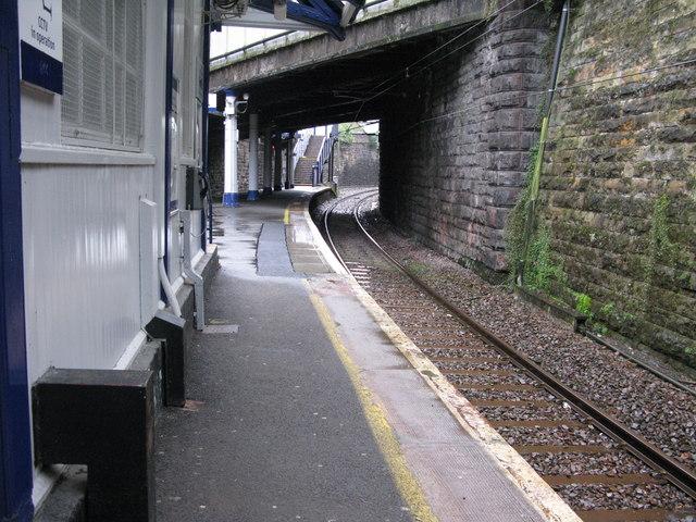 Crosshill railway station, looking SE