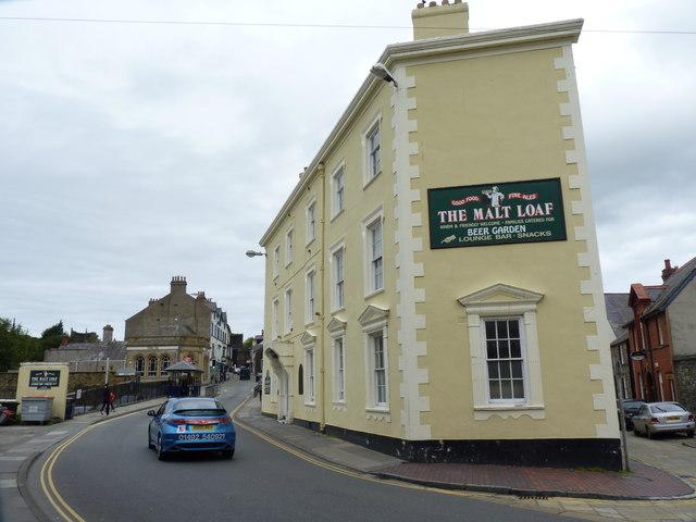 The Malt Loaf pub on Rose Hill Street, Conwy