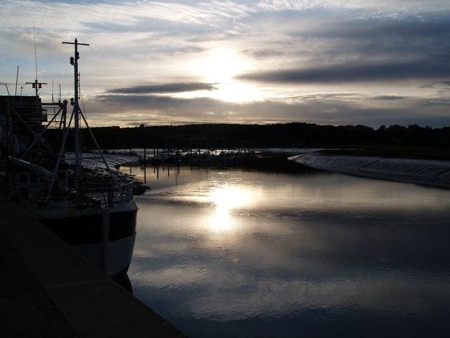 Sunset at Kirkcudbright Harbour