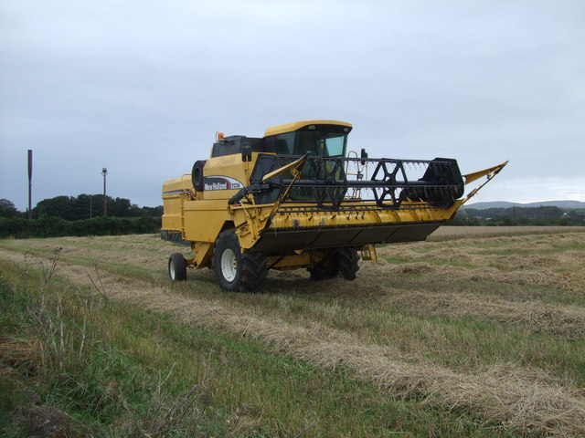 A New Holland combine harvester