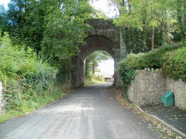 Grade II listed Treble Hill railway bridge, Glasbury, viewed from the NW